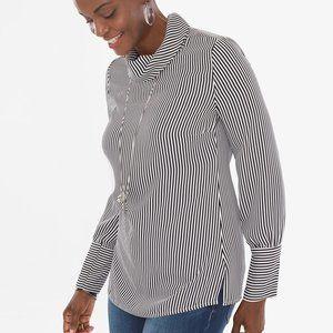 Chico's striped blouse, 2 (L)